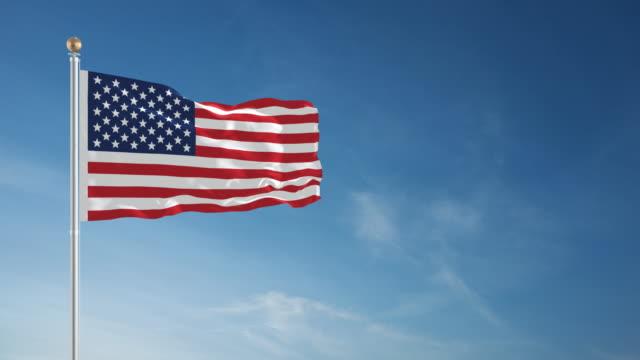 4K American Flag - Loopable video