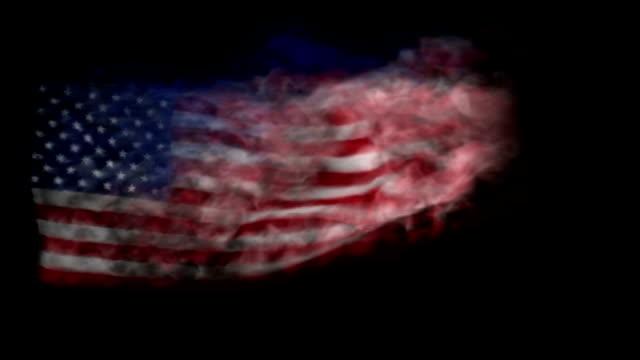 American Flag Made of Smoke video