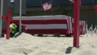 (HD1080) American Flag / Military Coffins, Zoom In video