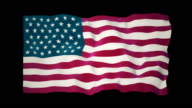 American Flag Slow Waving Matte video