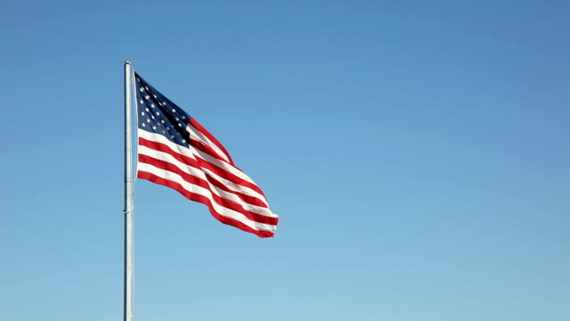 American Flag Stars and Stripes in the Breeze | Video video