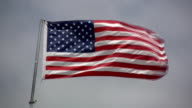 American flag. video