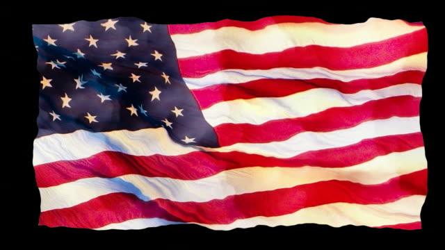 HD American Flag Waving 3 video
