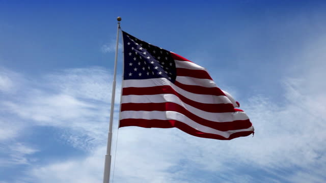 USA American Flag Waving in the Wind video