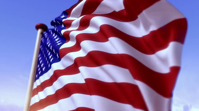 American flag with a fresh, bright look in slow motion. video