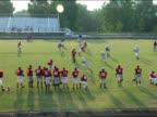 American Football Game on Football Field video