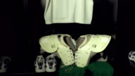 American Football Locker / Changing Room with pads & Helmet video