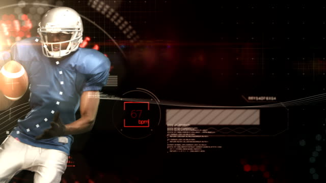 American football player catching ball video