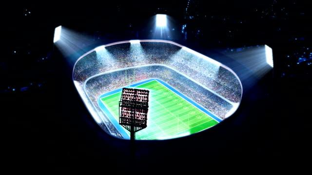 American football stadium. video