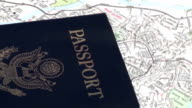American passport zoom out - HD video