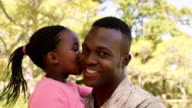 American soldier is embracing his daughter video