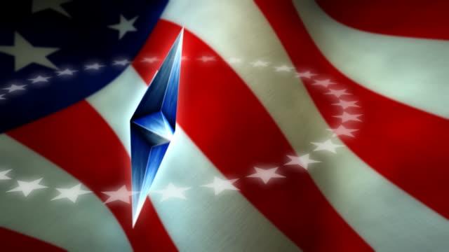 American Star & Flag video