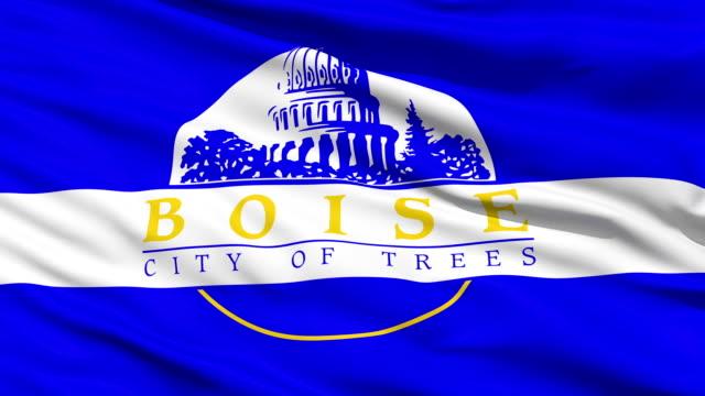 American State City Flag of Boise Idaho video