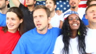 HD: American Supporters at Stadium video