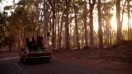 American Teenager friends making a road trip in california video