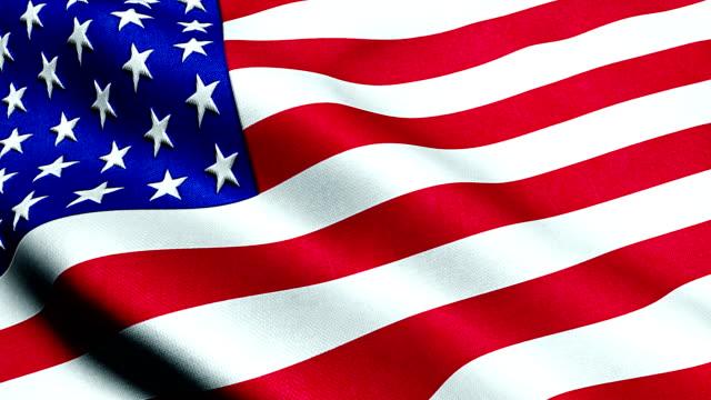 American USA waving flag, united states of america video