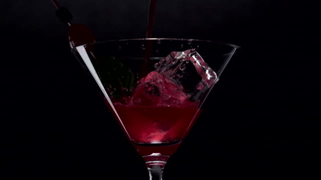 Americano Sparkling pouring on a glass video