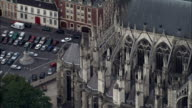 Amiens Cathedral  - Aerial View - Picardie, Somme, Arrondissement d'Amiens, France video