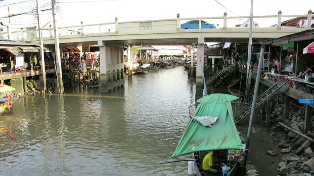 Ampawa, Floating Market, Thailand video