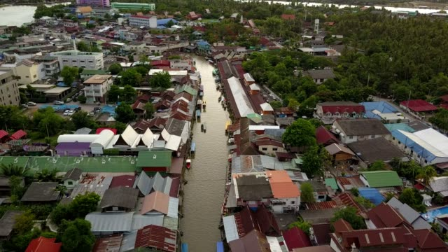 Amphawa floating market in Thailand video