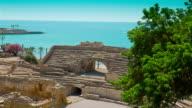 Amphitheater in Tarragona, Costa Daurada, Spain video
