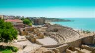 Amphitheater in Tarragona, Spain video