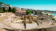 Amphitheater ruins in Tarragona, Costa Daurada, Catalonia, Spain video