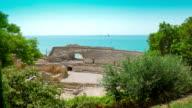 Amphitheater ruins, Tarragona, Costa Dorada in Spain video