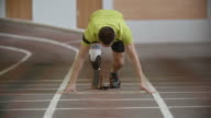 Amputee Athlete Starting Running video