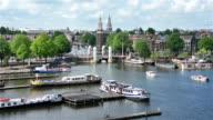 Amsterdam aerial view cityscape video