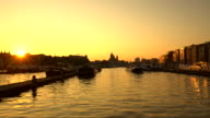 Amsterdam at sunset video