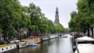 Amsterdam canal boat (timelapse) video