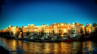 Amsterdam Canal Sunset Timelapse video