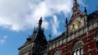 Amsterdam central station timelapse video