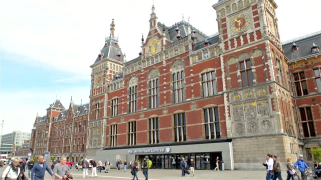 Amsterdam Central train station video