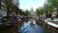 Amsterdam City Scene Water Canal video