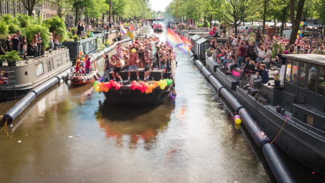 TIME LAPSE: Amsterdam Gay pride boat show video