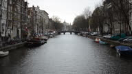 Amsterdam in overcast weather video