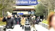 Amsterdam Zuid train station video