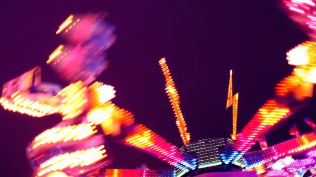 Amusement Park Carnival Ride at Night video