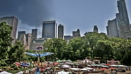 Amusement park in central park in New York video