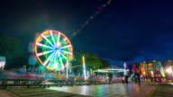 Amusement park timelapse video