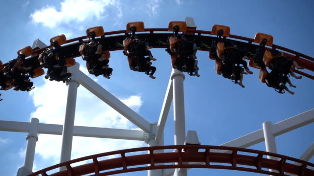 amusement park with blue sky in Thailand video