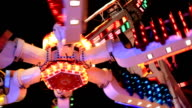 amusement ride closup video