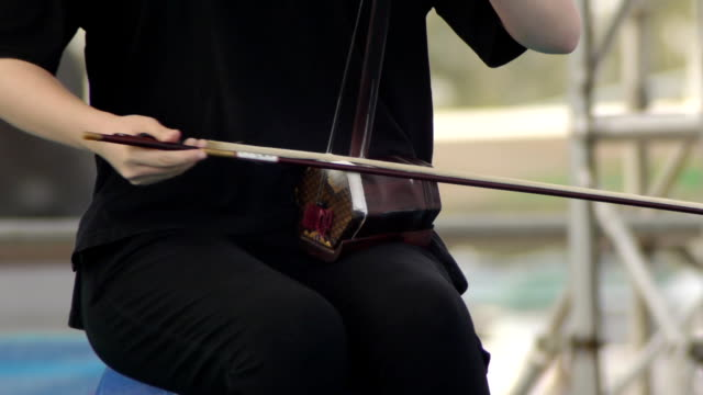 An actor playing a national musical instrument. video