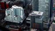 An aerial view of Toronto, Canada streets video