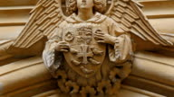 An angel sculpture from Westminster Abbey video