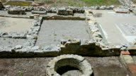 An archaeological site in Aquileia, Italy video