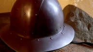 An armored hat used by the ancient warriors video