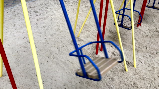 an empty swing moves video